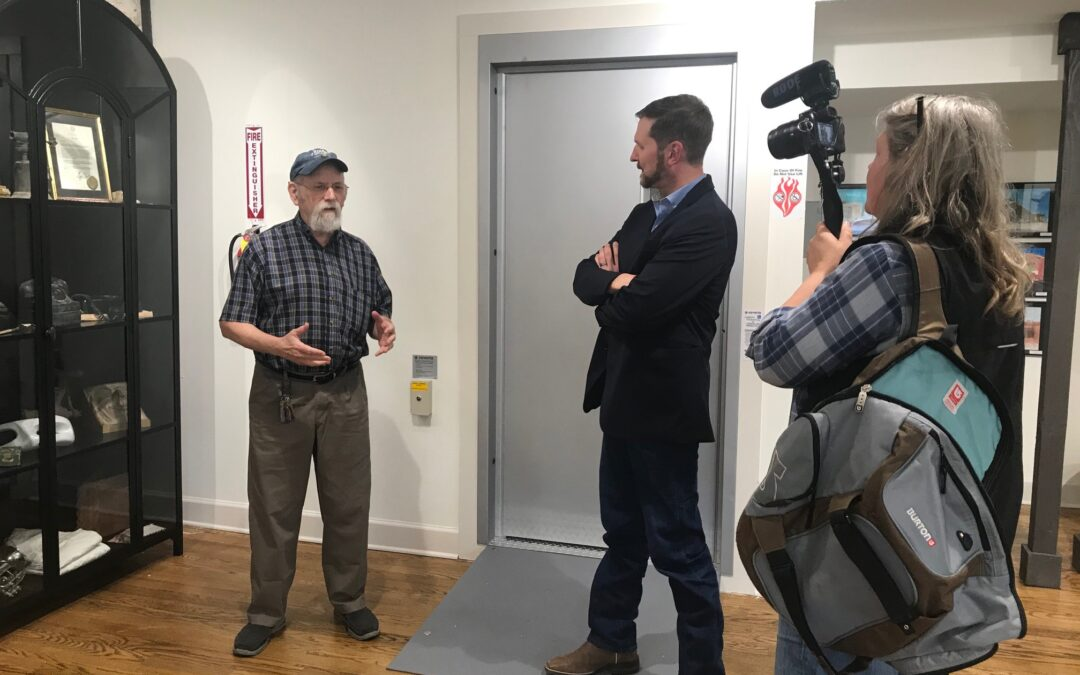 Artist Jim Franklin Films Documentary in LH